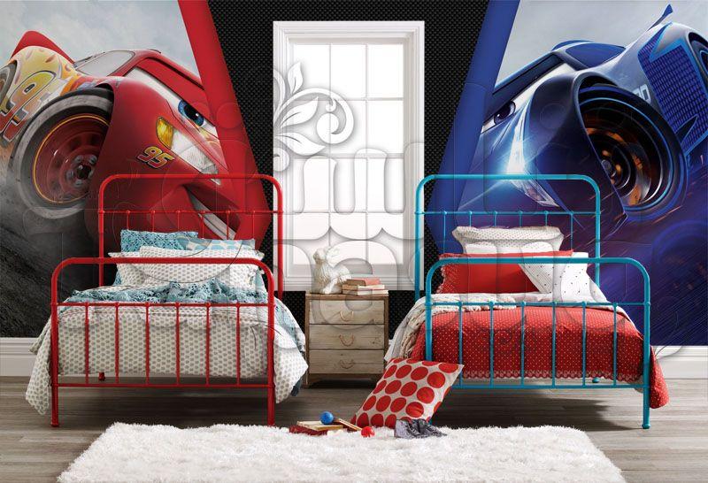 خلفيات ثري دي أطفال سيارات ديزني برق بنزين Kids Background 3d Toddler Bed Home Decor Bed