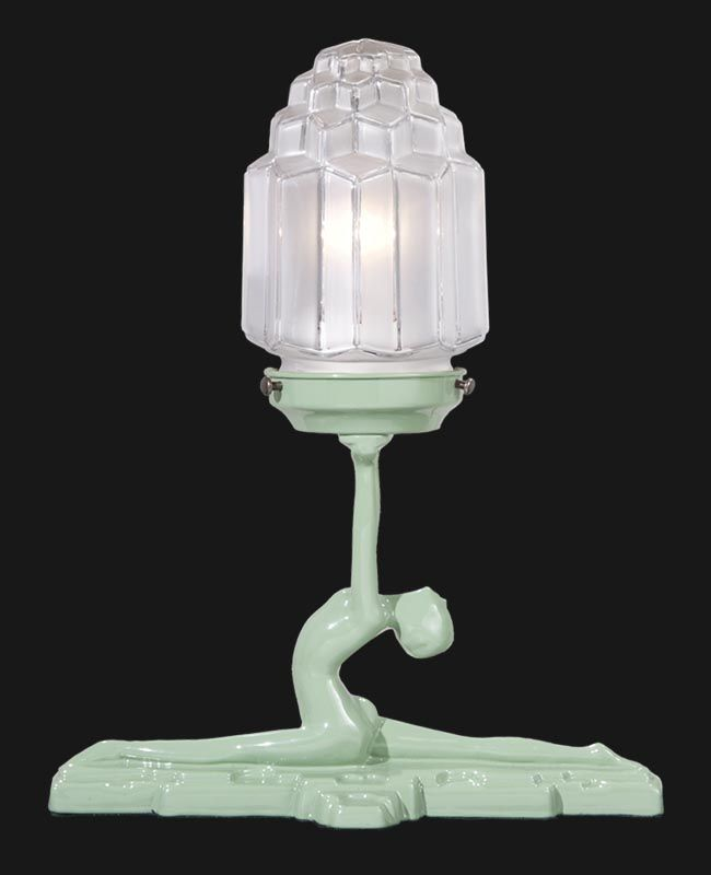 Art Deco Skyscraper Desk Lamp   Replacement glass lamp