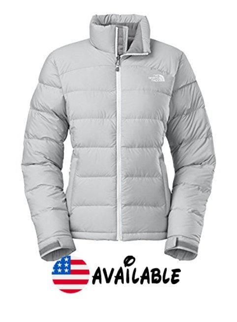 06220afce4f B00PT008RQ : The North Face Women's Nuptse 2 Jacket High Rise Grey Heather/TNF  White
