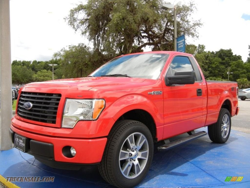 2014 ford f150 stx regular cab in race red c48457 truck n sale