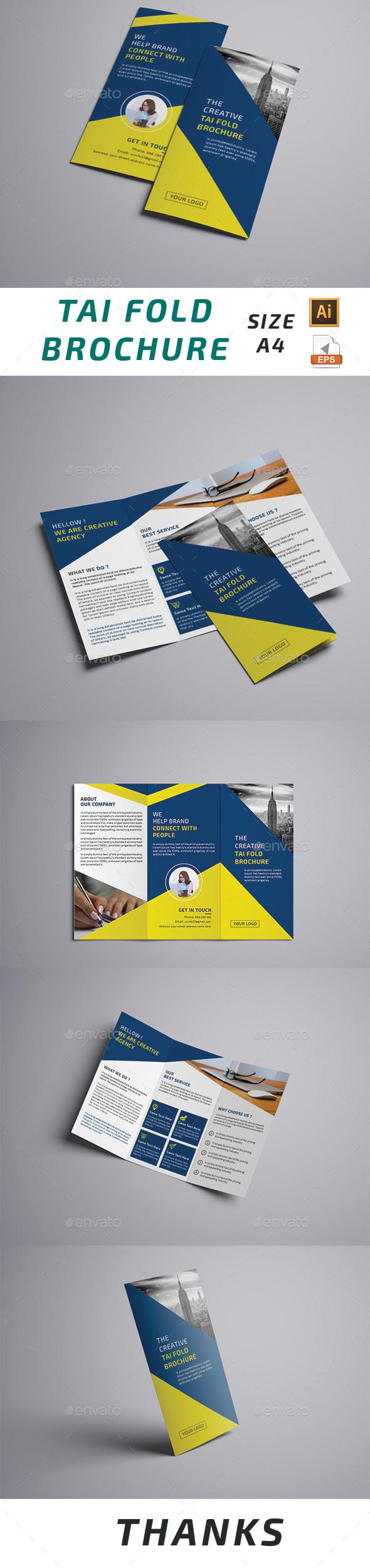 Taifold Brochure Template Vector EPS, AI Illustrator   Brochure ...
