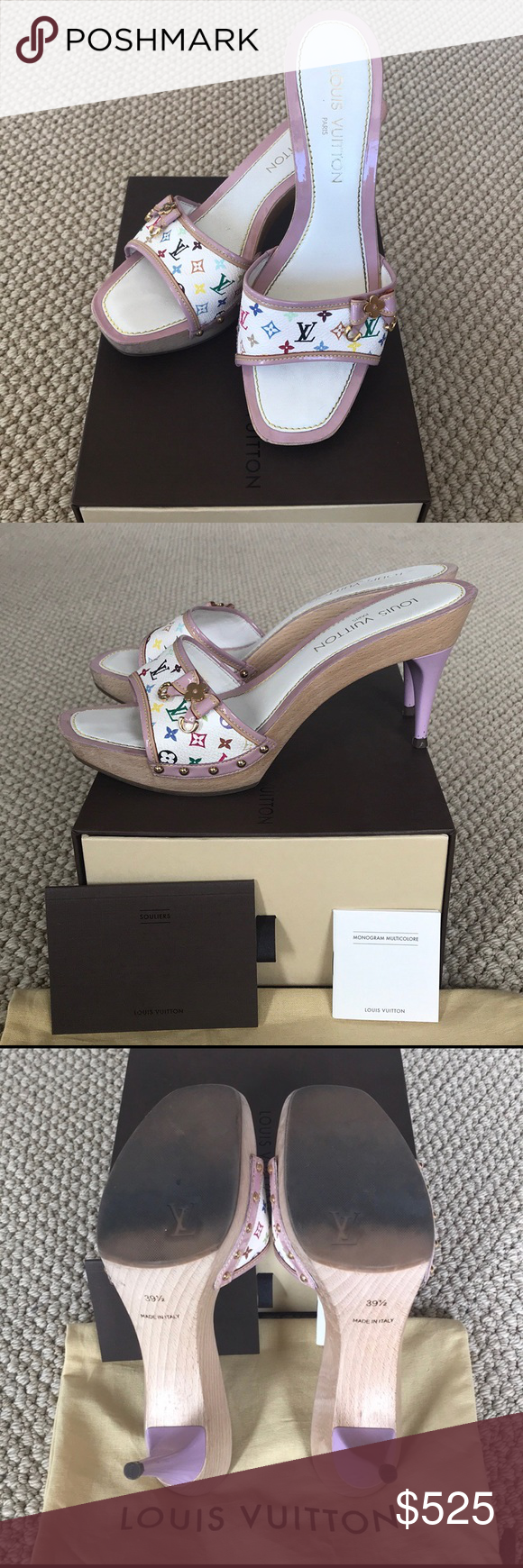 Authentic Louis Vuitton Multicolor Sandal Gorgeous limited ...