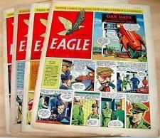 Eagle comics 1954 - vol 5 nos. 24, 31, 49, 51- good lower grade - dan dare