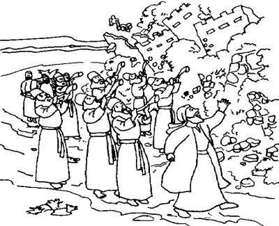 Jericho,Jericho coloring page   Sunday school