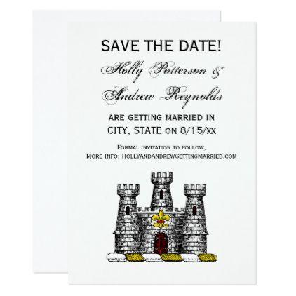 Vintage Heraldic Castle Emblem CoatofArms Crest C Card Invitation - formal invitation style
