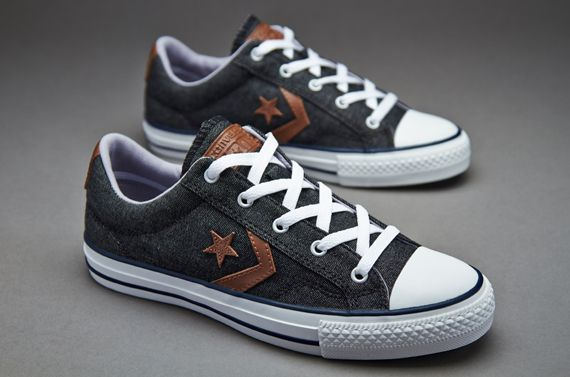 Converse Star Player Lo Pro Ox Dark Denim Canvas Converse Star Player Lo  Pro Ox Charcoal/White Canvas Trainers Colourway | Denim | Pinterest | Converse  star ...
