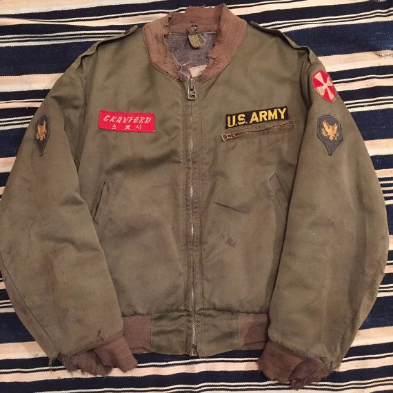 088942641 Vintage 1950s Korean War Era Tanker Jacket Size XS/S | military ...