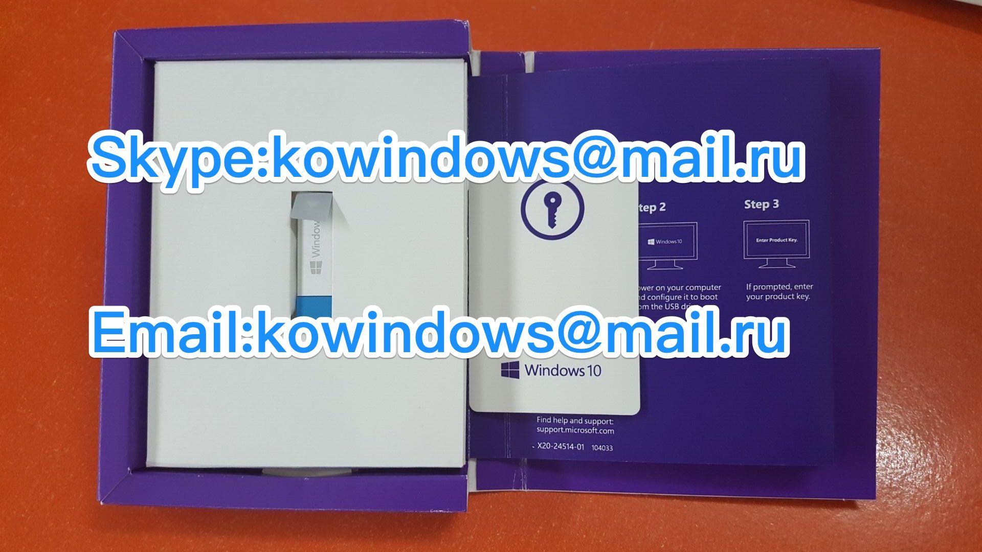 Microsoft Windows 10 Home English Usb Flash Drive: USB Flash Drive Retail Box/windows 10 Pro