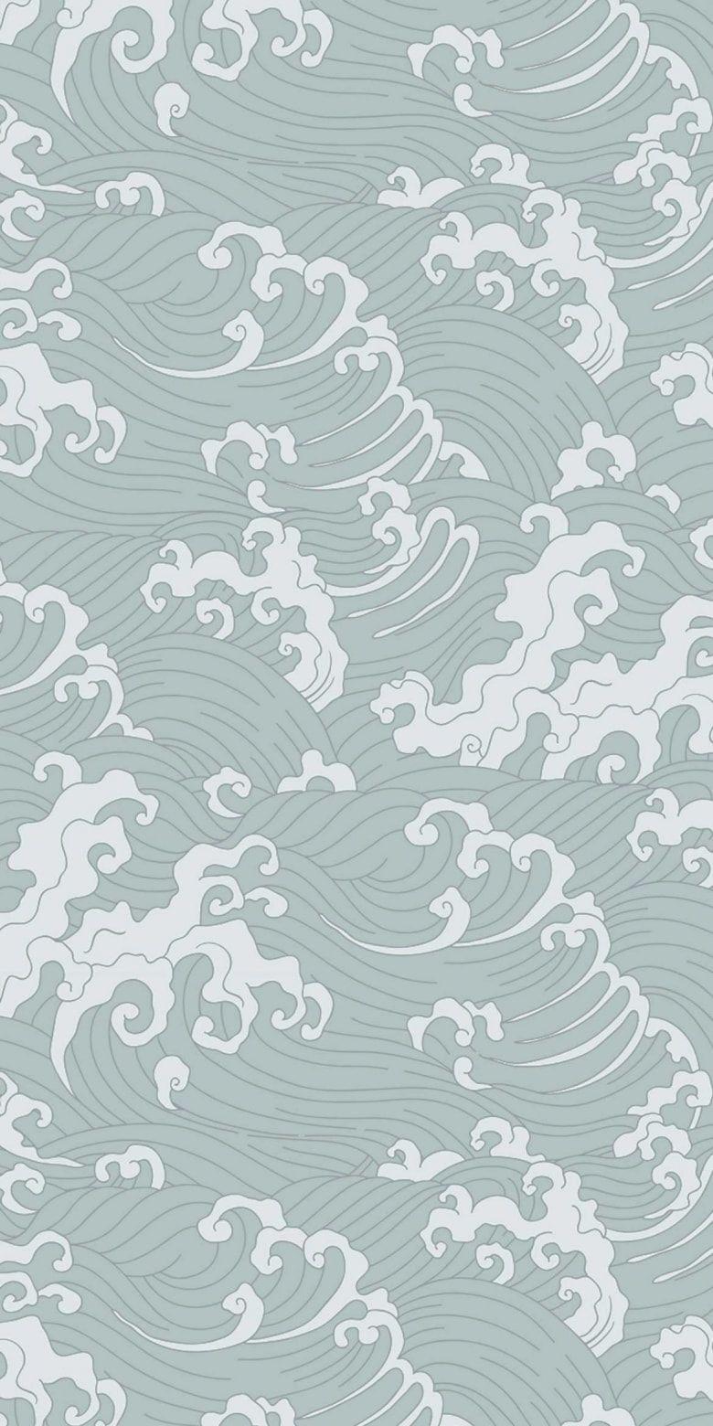 Feathr Japanese Wave Wallpaper Waves Wallpaper Japanese Waves
