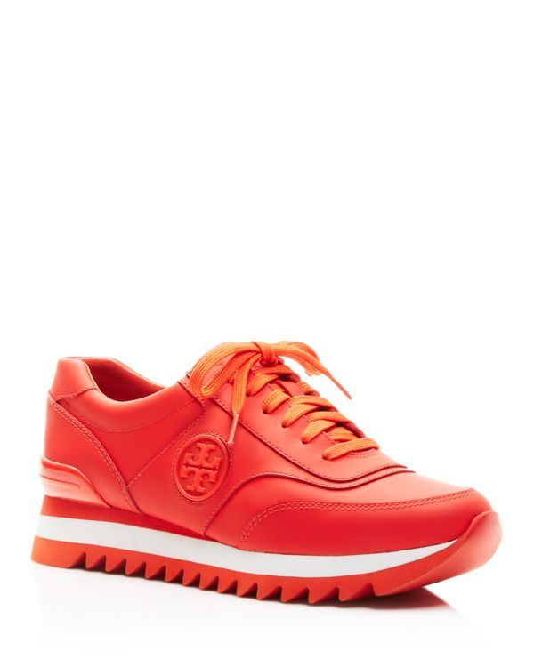 1897b29d1 Tory Burch Sawtooth Logo Trainer Sneakers