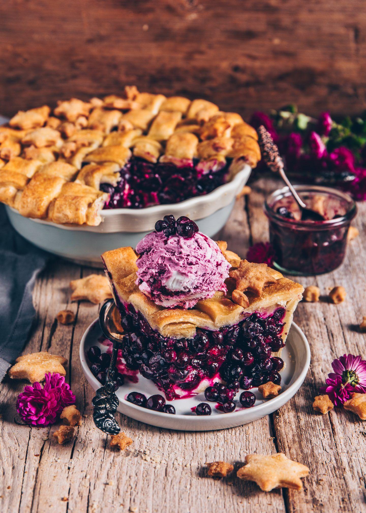 Photo of Blueberry Pie (Blaubeerkuchen) | vegan, einfach – Bianca Zapatka | Rezepte