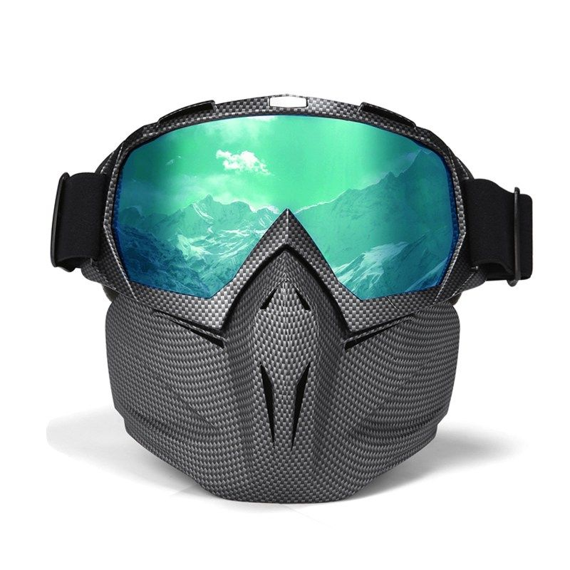 91dcf0efc278d Men Women Ski Goggles Snowboard Snowmobile Goggles Snow Winter Windproof Skiing  Glasses Motocross Sunglasses With Face Mask