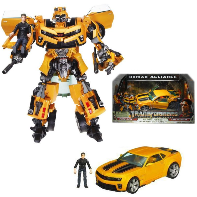 TRANSFORMERS BUMBLEBEE /& SAM WITWICKY HUMAN ALLIANCE ROBOT ACTION FIGURES TOY