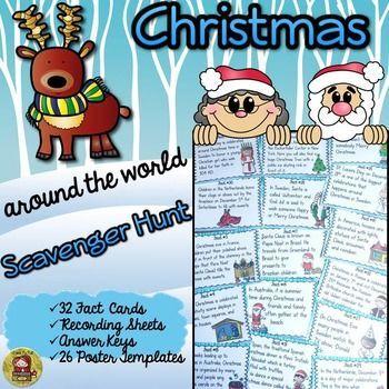 Christmas: around the world scavenger hunt | Around the worlds ...