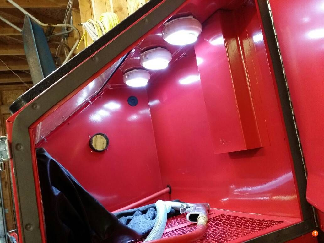 Sandblasting Cabinet Lighting httpwwwpowdercoatguidecom2013