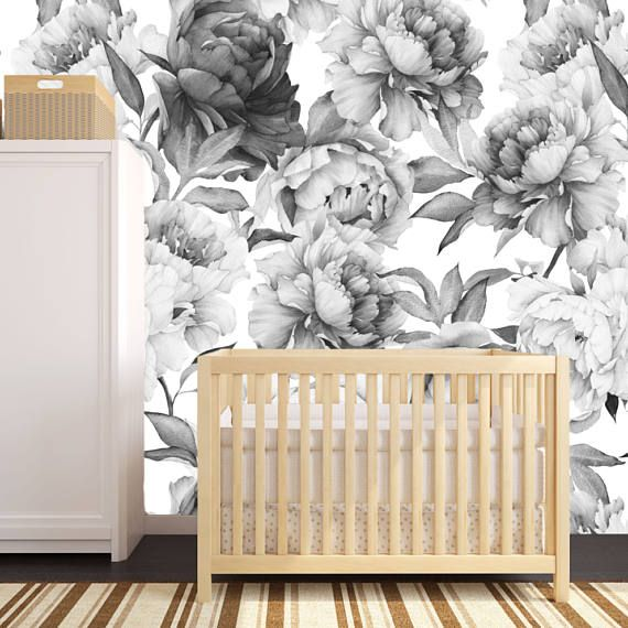 Peony Wallpaper, Removable Wallpaper, Floral Wallpaper