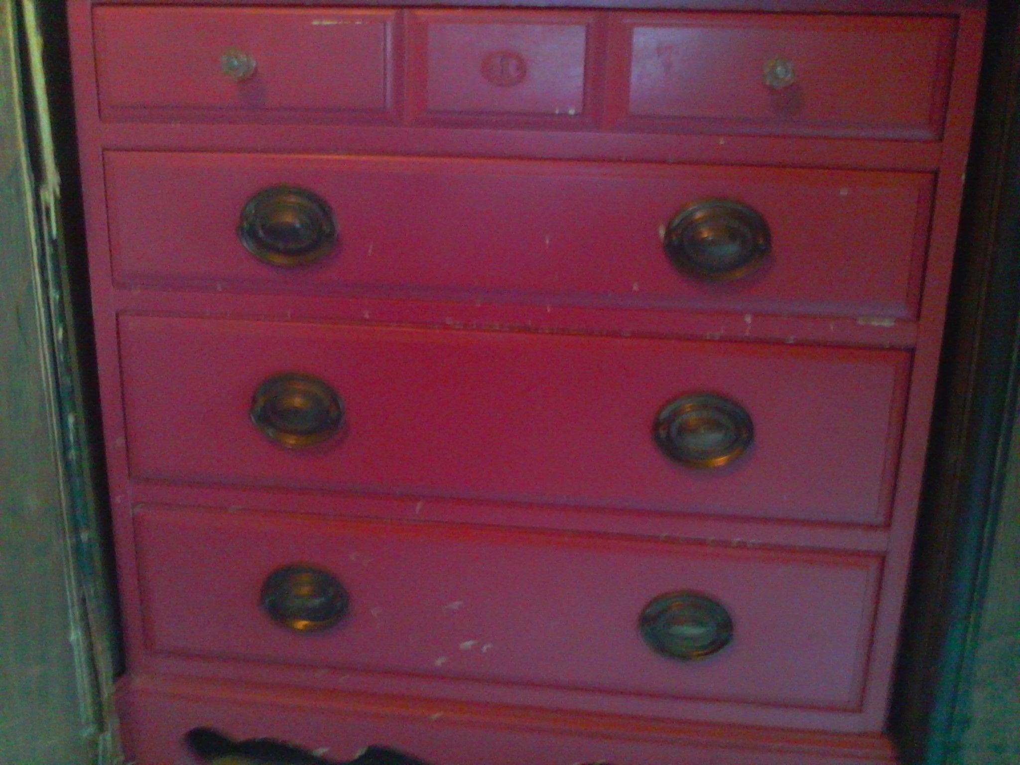 girls pink 4 drawer dresser,vintage in unemployed's Garage Sale in New carlisle , IN for $20.00. Cash & carry,  no shipping