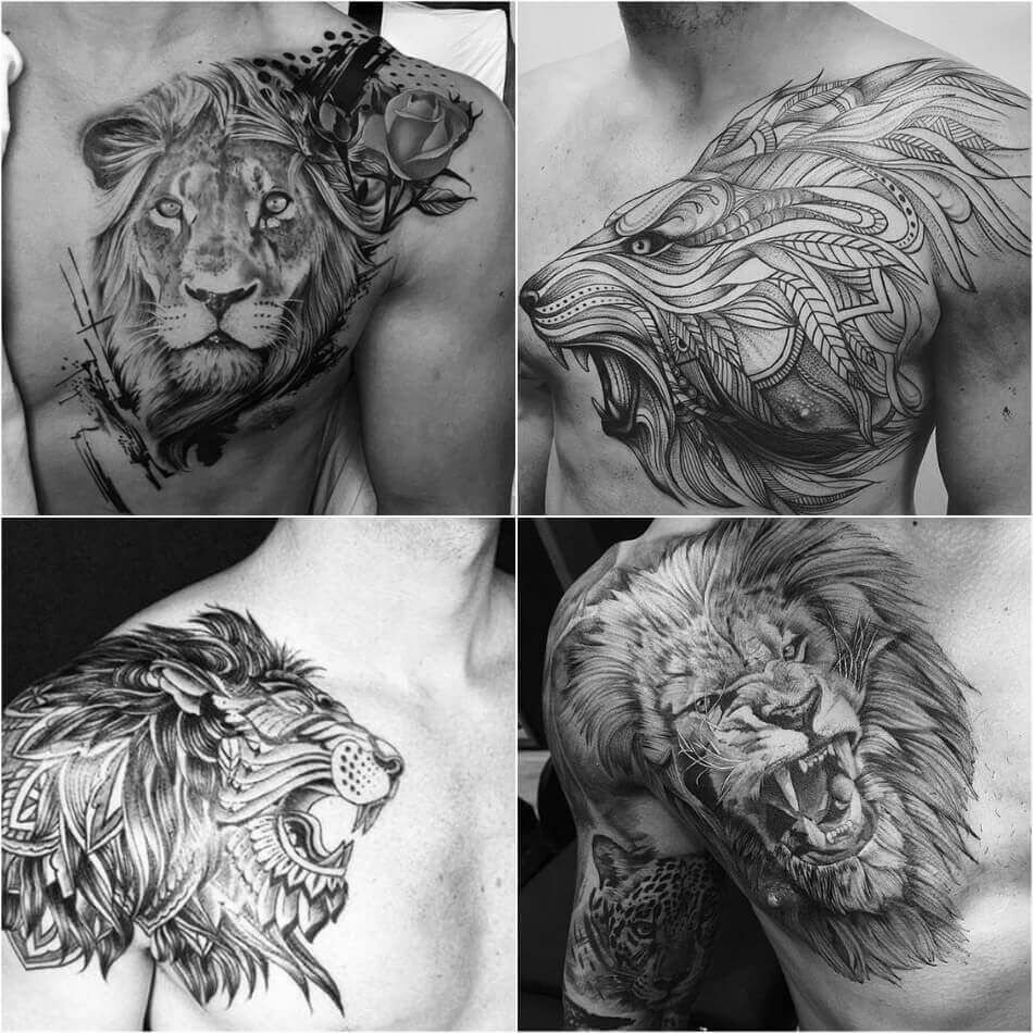 a6def5f8f Black and White Lion Tattoo for Men | Explore more Lion Tattoos Ideas on  https: