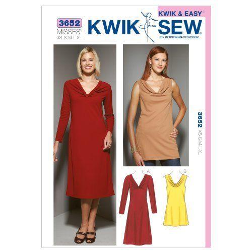 Kwik Sew K3652 Dress and Tunic Sewing Pattern, Size XS-S-M-L-XL by KWIK-SEW PATTERNS, http://www.amazon.com/dp/B00889RFO4/ref=cm_sw_r_pi_dp_wbUkrb0EE9T47