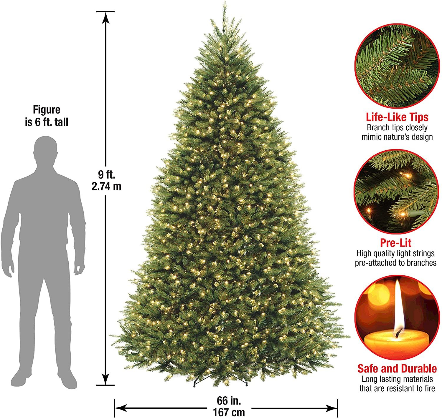 Christmas Tree Supply 2021 Lit Artificial Christmas Tree Includes Pre Strung White Stand Dunhill Fir 9 Ft Clear Lights In 2021 Artificial Christmas Tree Lights Color Changing Lights