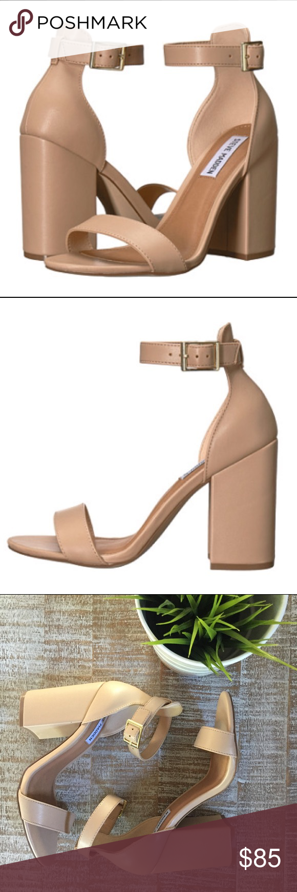 """⭐️Steve Madden Izzy Heels NWT, in original box Steve Madden """"Izzy"""" heels. The color is blush and looks like a nude. Heel height is 3 1/2. Brand new never worn. Women's size 8.   ❌ NO TRADES  Same day / Next day Shipping Non smoking & Pet free Home  Bundle discount 10% off 2+ item Steve Madden Shoes Heels"""