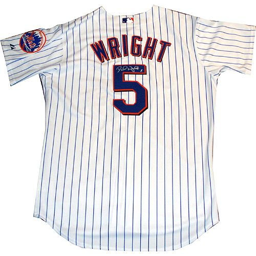 sale retailer f8b1a f6073 David Wright Mets Authentic Home Pinstripe Jersey - Back ...