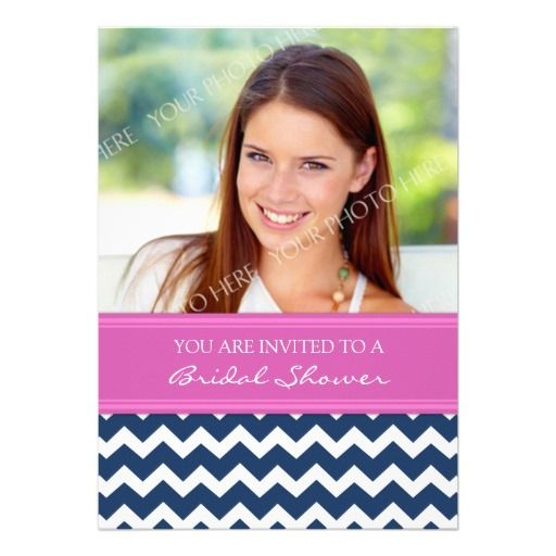 See MorePink Blue Chevron Photo Bridal Shower InvitationYes I can say you are on right site we just collected best shopping store that have