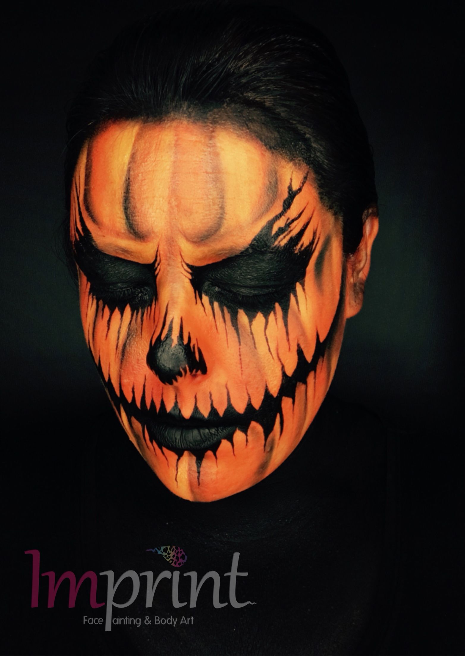 Scary Pumpkin Painting Scary Pumpkin Face Paint For Halloween Face Painting Designs