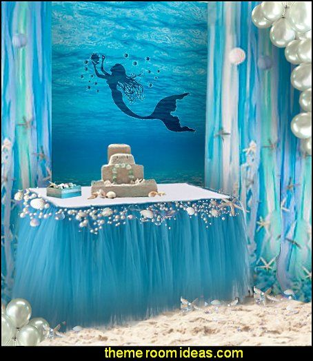 Mermaid party decorations mermaid party ideas mermaid for Sea themed decorating ideas
