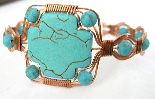 Tutorial Making a Stone Cross Bracelet PDF Wire Wrapped Jewelry. $7.00, via Etsy.