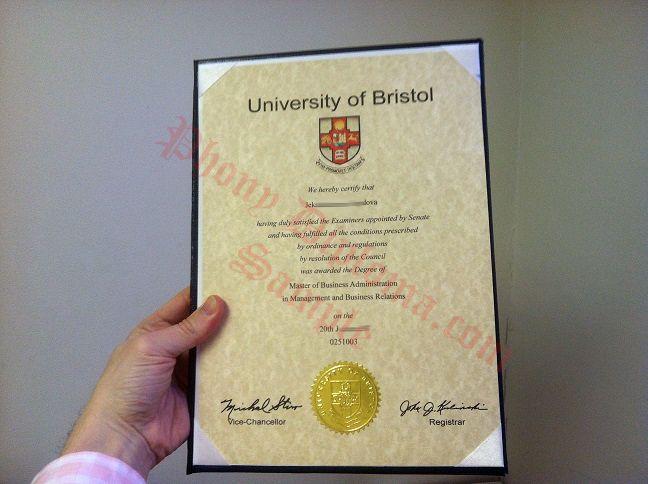 University Of Bristol United Kingdom Uk Fake Diploma From