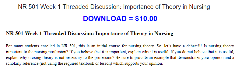 why is nursing theory important