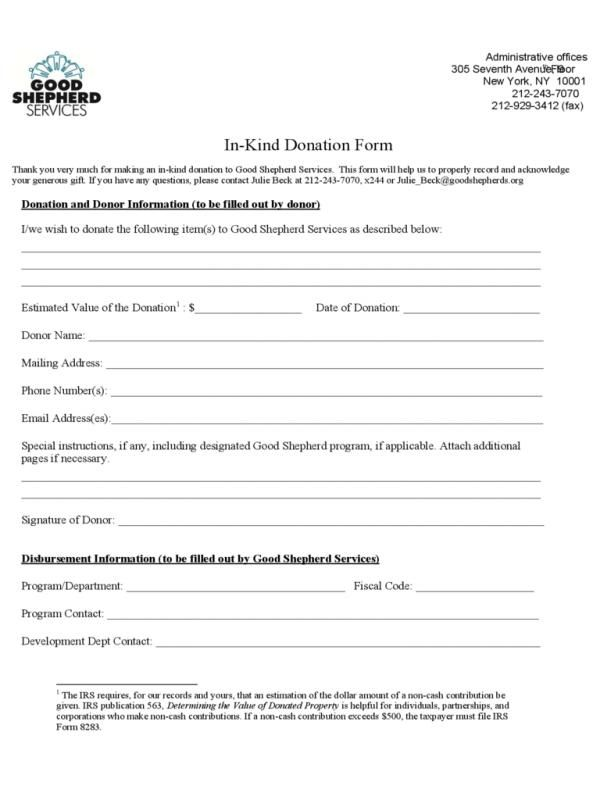 Printable Donation Form Template | template | Pinterest | Donation ...
