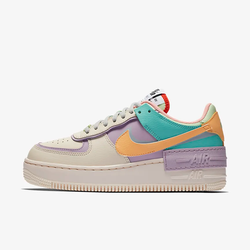 nike air force 1 shadow femme orange