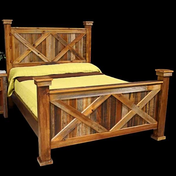 Jorgensen Platform Bed Rustic Bed Frame Wood Furniture Bedroom Decor Rustic Bedroom Furniture
