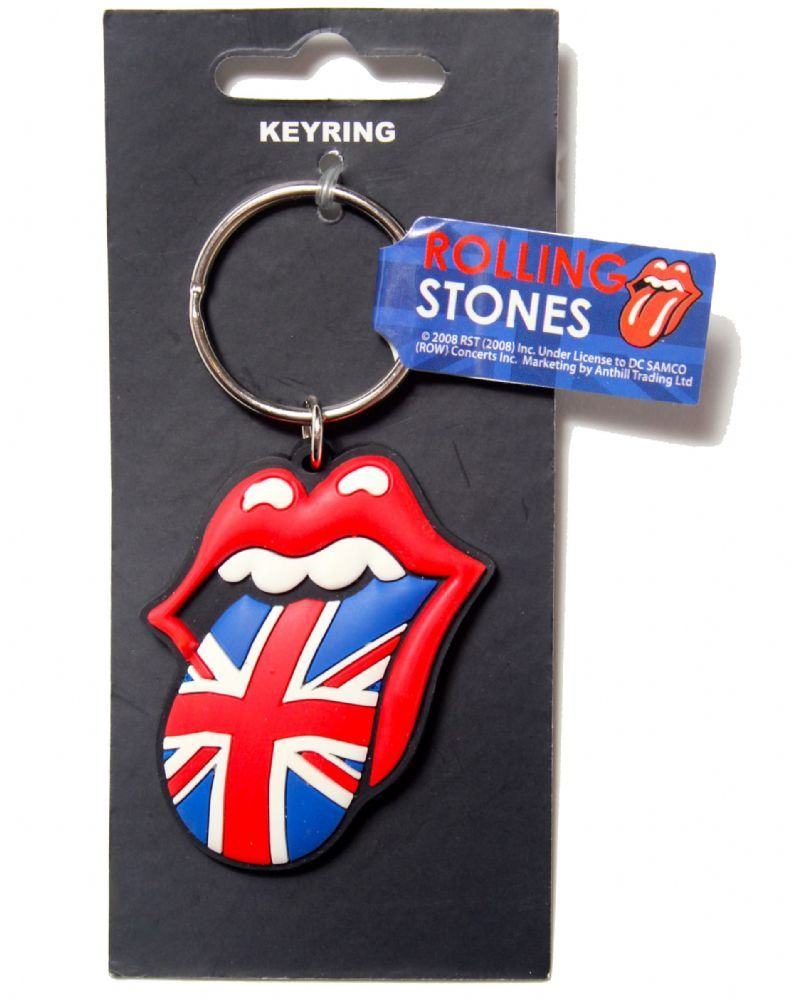 The Rolling Stones Keyring Keychain Tongue band Logo jagger Official New