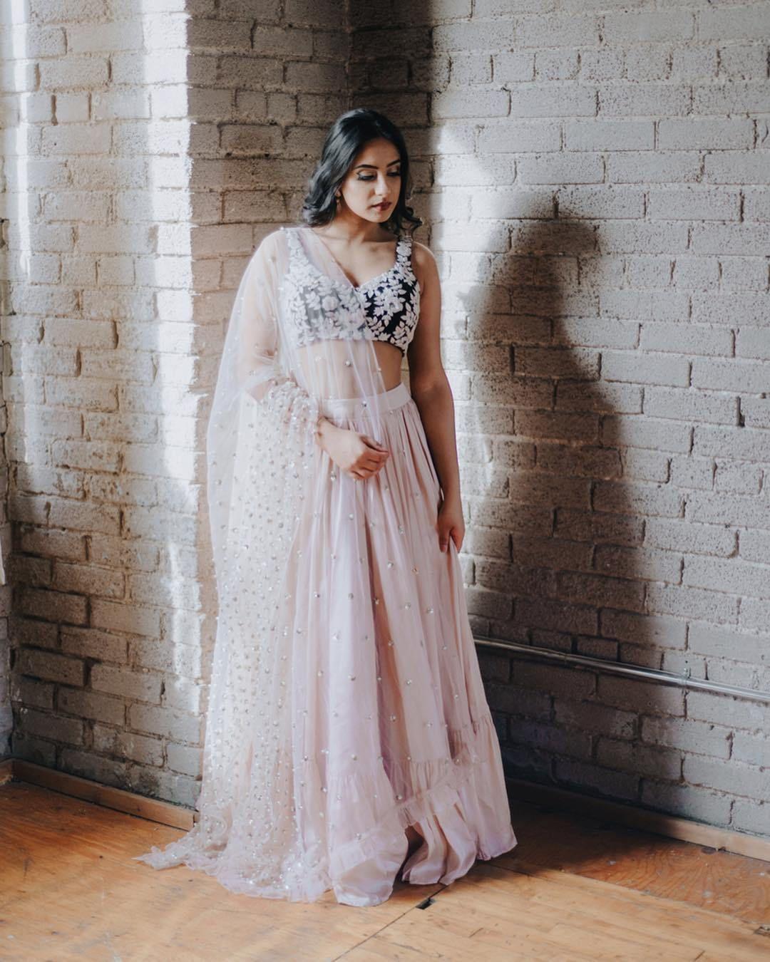 Satin Silk Moornii Lehenga | Lehenga, Silk satin, Deepika ...