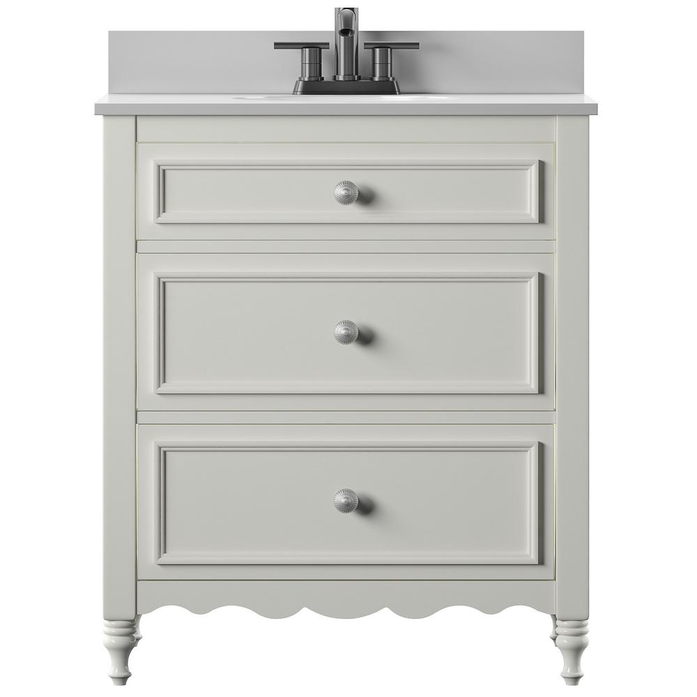 Twin Star Home 30 In Bath Vanity In White Cottage Dresser Style With Vanity Top In Stone White With Basin 30bv479 T401 The Home Depot Single Bathroom Vanity Dresser Vanity Bathroom Vanity [ 1000 x 1000 Pixel ]
