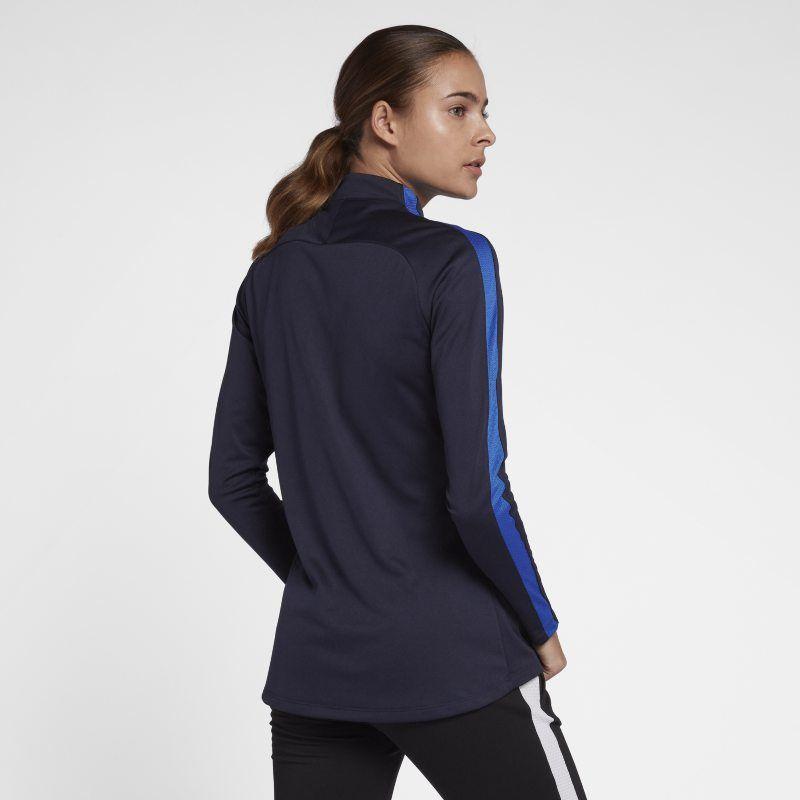 d7e5ff54e Nike Dri-FIT Academy Drill Women's Long-Sleeve Football Top - Blue ...