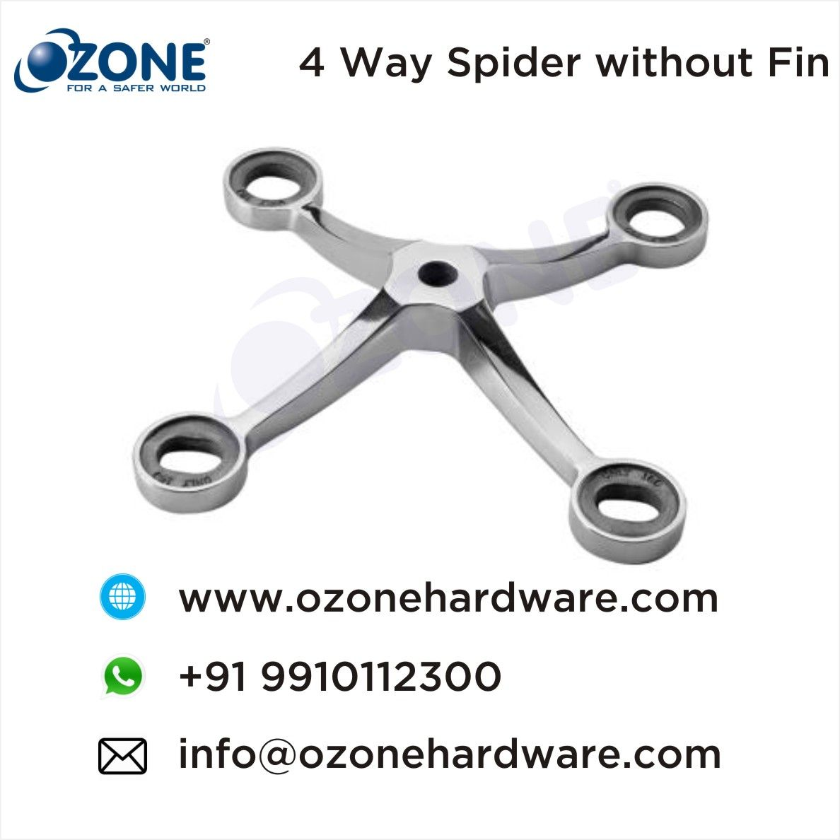 4 Way Spider without Fin, Spider & Canopy Fittings, Without