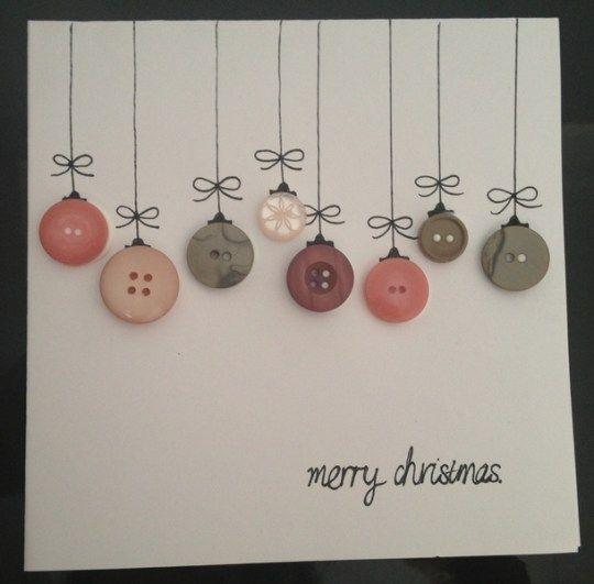 Cartes de Noël faites main idées de design 25 #decorationnoelfaitmain