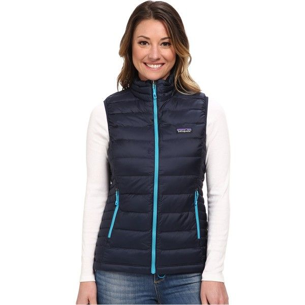 Patagonia Down Sweater Vest Women's Vest, Navy ($72) ❤ liked on ...