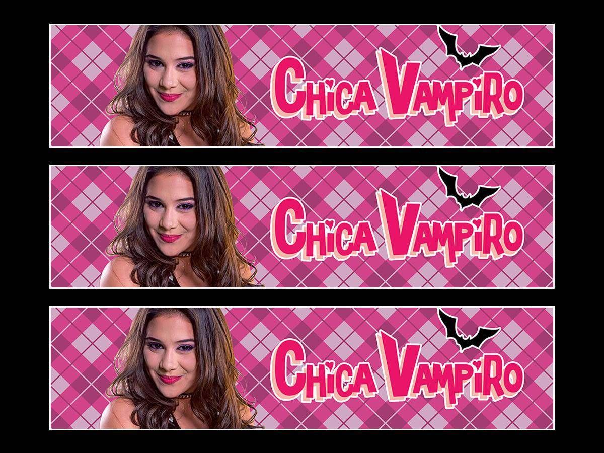 Connu 3 Bandes de gâteaux sucre Chica Vampiro - Thema-Deco | festa chica  NR61