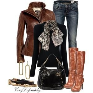 """Brown and Black"" by verydefinitely on Polyvore by MamieKnowsBest"