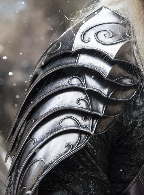 King Thranduil's armor in The Hobbit: The Battle of Five Armies. I would LOVE LOVE LOVE this as a half-sleeve tattoo.