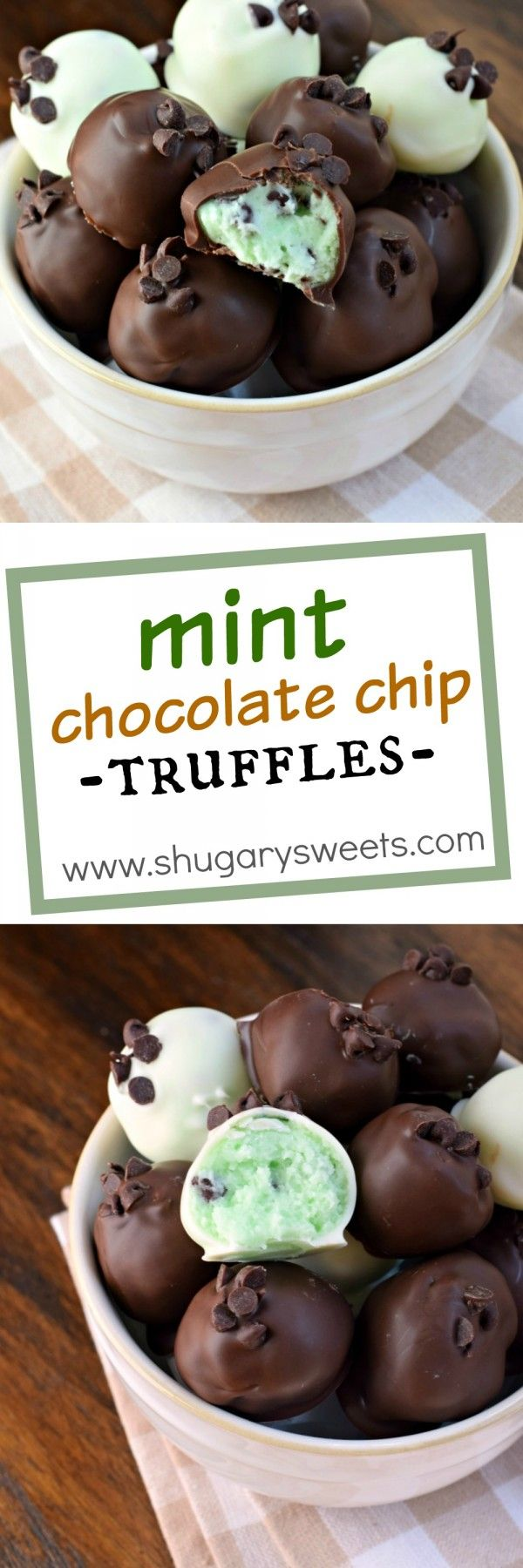 Delicious creamy mint chocolate chip truffles recipe so easy to delicious creamy mint chocolate chip truffles recipe so easy to make too forumfinder Image collections