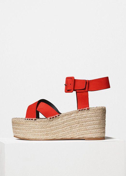f8bda0e3a9c216 Espadrille Criss Cross Sandal in Nubuck Calfskin - Céline   Céline ...