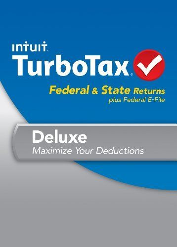 Turbotax Deluxe Fed Efile State 2013 With Refund Bonus Offer Download By Intuit Http Www Amazon Com Dp B00ffinows Ref Cm S Turbotax Efile Tax Software