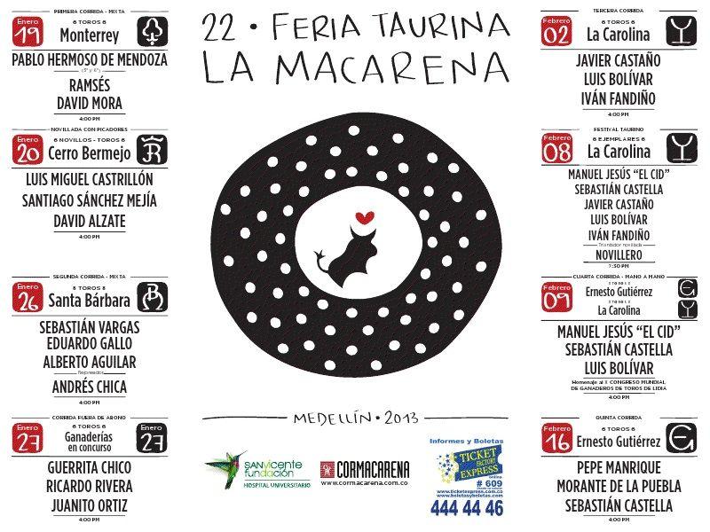 MEDELLÍN 2013, FERIA TAURINA DE LA MACARENA