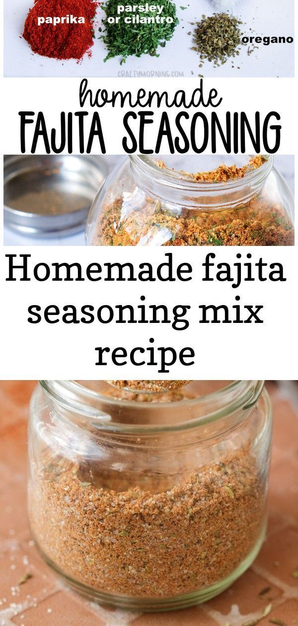 Homemade fajita seasoning mix recipe #homemadefajitaseasoning Make this homemade fajita seasoning mix recipe for your chicken, beef, shrimp, etc! Fajita spice mix you can store in a jar and keep. Homemade seasoning mix for mexican fajitas. Dinner idea. Easy Homemade Fajita Seasoning Mix using the spices you already have on hand. This is the perfect blend for fajitas. Ready in less than 5-minutes. #fajita #seasoning #homemade #easyrecipe #mexicanfood #spices #howtomake via @happyfoodstube Carrot #homemadefajitaseasoning